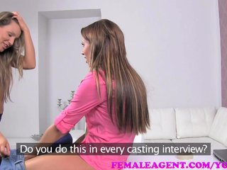 Amateur Audition Casting video: FemaleAgent Bisexual beauty in passionate sensual lesbian casting
