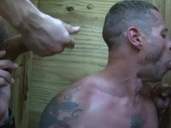 Outdoor gloryhole threesome - Factory Video