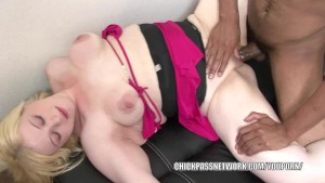Curvy coed Sparkle takes a black dick in her wet twat