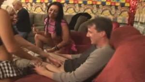 Angelina Ashe and Ashli Orion Jerk Off a Happy Fan!