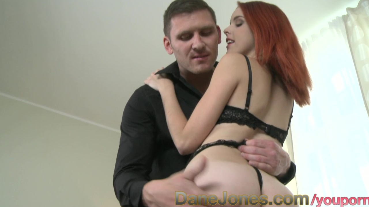 DaneJones Redhead goth with great ass and shaved pussy fucks to orgasm