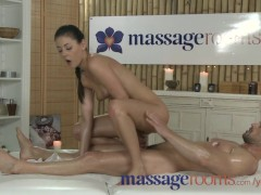 Massage Rooms Horny young masseuse fucks big dick and has intense orgasm