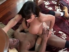 horny busty milf takes a good fucking from her lucky boyfriend's huge BBC