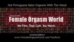Hot Portuguese Blonde Solo Masturbation and Orgasms