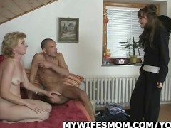 Horny guy screws his GF's mother