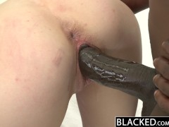Picture BLACKED Skinny Blonde Young Girl 18+ Stretched by...