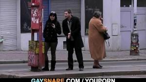 Hetero guy tastes his cock and likes it!