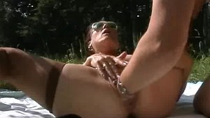 Monster fisting and dildo fucking in public
