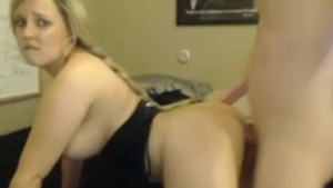 Busty web cam girl fucking and takes facial