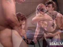Harmony Vision Huge natural tits babes sharing cock