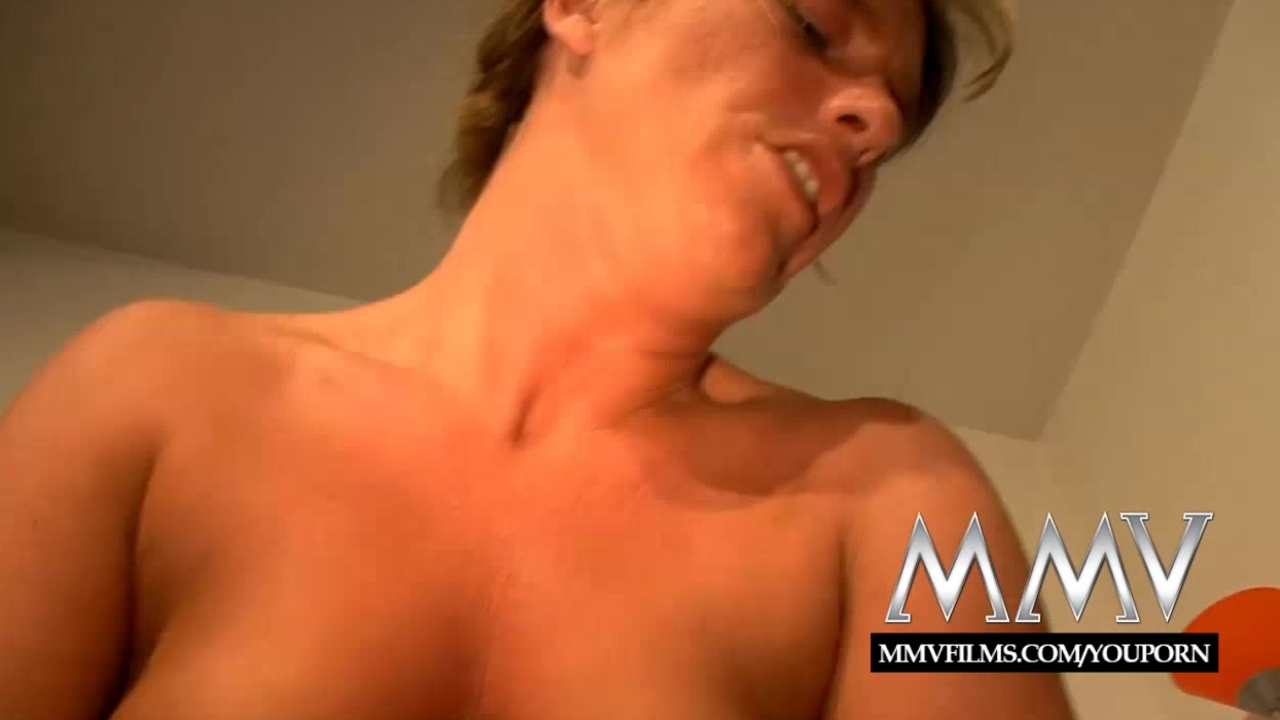 MMV Films shaved mature German fucked for cum