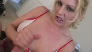 incredible hot handjob babe