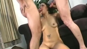 rough asian thressome fuck