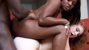 Interracial big booty threesome - Candy Shop
