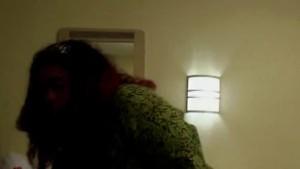 Black redhead MILF sucks cock