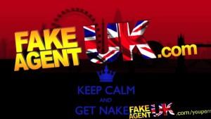 FakeAgentUK Fake interview sees petite curvy blonde get a massive facial