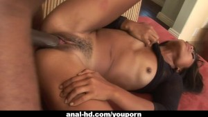 Nasty Asian whore gets her ass harpooned by a mandingo