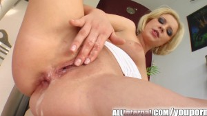 All Internal Blonde's holes penetrated and cum filled