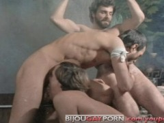 """Shackled George Payne is """"serviced"""" in classic gay porn CENTURIANS OF ROME (1981)"""