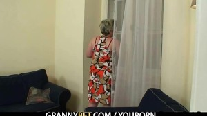 Lucky guy fucks lonely granny