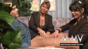 MMV Films Mature teacher having fun with a coupleTITLE: click to edit