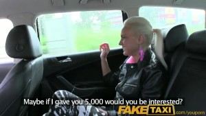 FakeTaxi Real amateur teen drops panties and lets taxi driver fuck her with condom