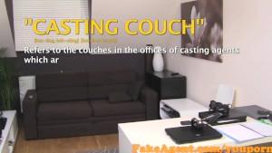 FakeAgent Cute brunette Milks cock in Casting interview