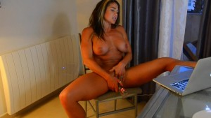Fitness Milf masturbating and watching porn