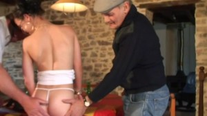 crazy gangbang with voyeur papy