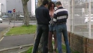 Sylvie fucked in a street by strangers