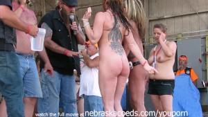 watch these girls get buck wild on state at an iowa biker rally