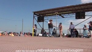 naked amateur pole dancing finalist at iowa biker rally