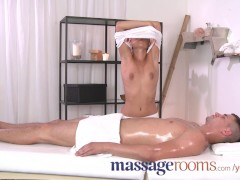 Massage Rooms Hot masseuse takes big dick and has intense orgasm