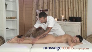 Massage Rooms Sexy babe is bathed before receiving multiple orgasms