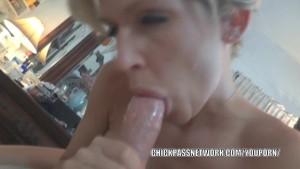 Blonde MILF Jolene fucks toys and sucks some dick