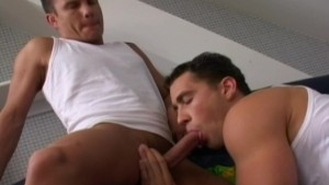 Best friends celebrate their friendship by licking each others buttholes - Lucas Entertainment
