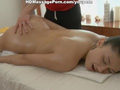 Picture Sexy girl ero massage with oil and jizz