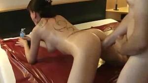 Tattooed amateur milf loves fist fucking orgasms