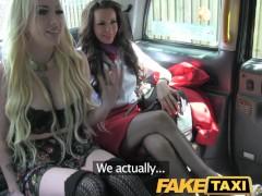 FakeTaxi Gang bang fuck fest taxi style