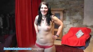 Czech amateur lapdances and shows her curves