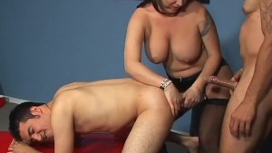 bisex with busty MILF