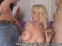Wild Wifey Fucks Two Neighbors