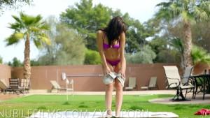 Nubile Films - 18 yr old Aidra Fox cums on her toy