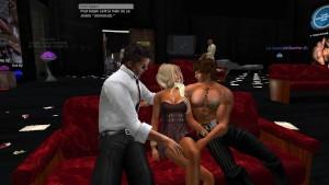 Ma petite femme Venicie en mini robe moulante qui se fait aborder au cinéma par un inconnu