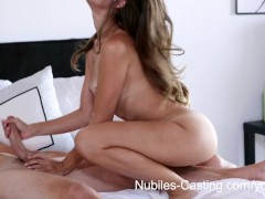 Nubiles Casting - Tiny tit babe tries out for porn hardcore style
