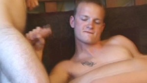 Hot three amateur twinks giving blowjobs