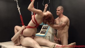 Violet Monroe gets rough anal and ass to mouth at the Slop Kitchen