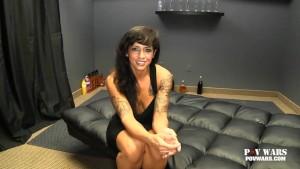 POV Wars Dani Dupree strips and teases before she fucks guy #1