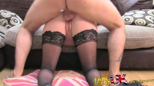 FakeAgentUK Deep throating fucking and creampie for British amateur