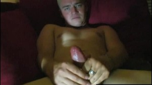 Blonde Straight Guy Travis Masturbating